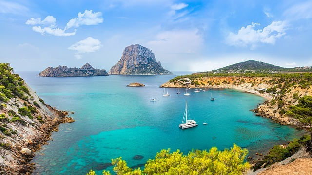 An ibiza winter can be as beauitful as this sumer scene